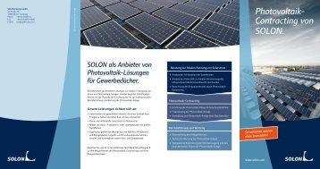 Photovoltaik- Contracting von SOLON.