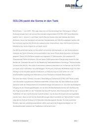 Die Pressemitteilung als PDF zum Downloaden (23377 Bytes). - Solon