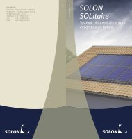Brochure SOLON SOLitaire