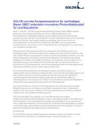 Die Pressemitteilung als PDF zum Downloaden (6502 Bytes). - Solon