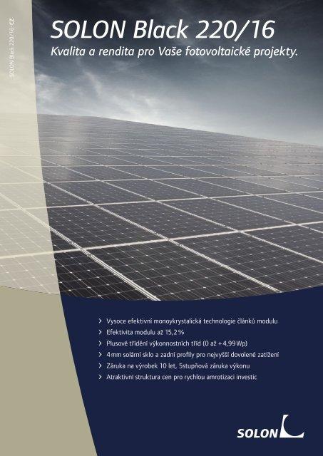 SOLON Black 220/16 Kvalita a rendita pro Vaše fotovoltaické projekty.