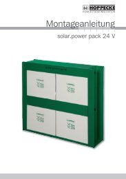 Hoppecke solar.power pack Montageanleitung - Solon