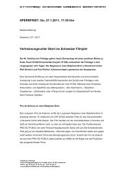 Medienmitteilung Preisträger Prix de Soleure / PRIX DU PUBLIC