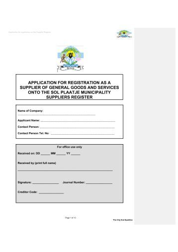 sassa supplier database application form