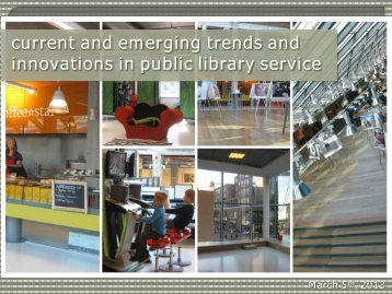 current and emerging trends and innovations in public library service