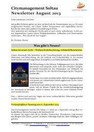 Newsletter Citymanagement Soltau 3/13