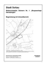 Begründung mit Umweltbericht - Stadt Soltau