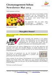 Newsletter Citymanagement Soltau 1/13