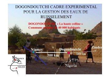 Dogondoutchi cadre expérimental pour la gestion des eaux de ...