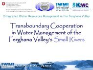 PPT presentation - IWRM in the Ferghana Valley