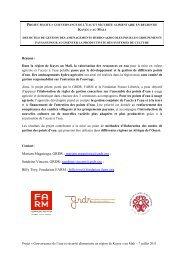 Projet Eau Sécurité alimentaire_GRDR_FARM_FFL_7 juillet 2011