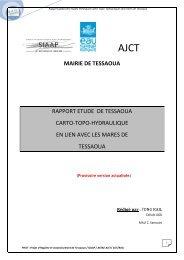 Rapport Etude de Tessaoua carto-topo-hydraulique en lien avec les ...