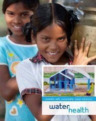 scalable. safe. sustainable. water solutions.