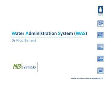 Water Administration System (WAS)