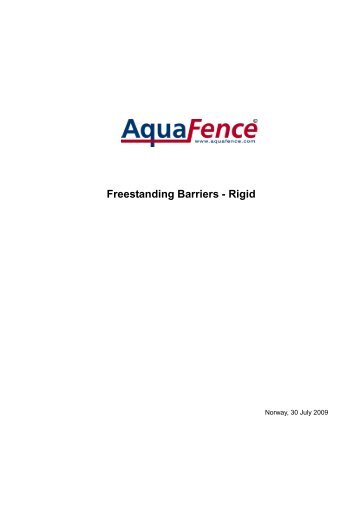 Freestanding Barriers - Rigid