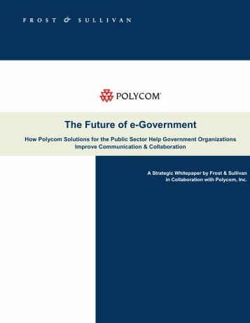 White Paper: The Future of e-Government - Virtual Events India