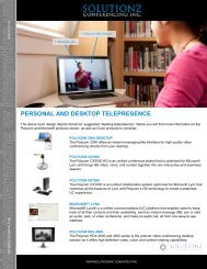 personal and desktop telepresence - Solutionz Conferencing