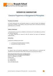 Executive Programme en Management & Philosophies