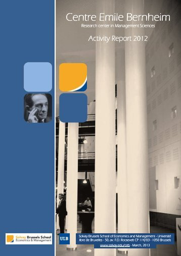 Annual Report - 2012 - Solvay Brussels School