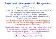 Power and Strangeness of the Quantum - Solvay Institutes