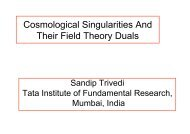 Cosmological Singularities And Their Field Theory ... - Solvay Institutes