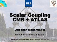 Scalar Coupling CMS + ATLAS - Solvay Institutes