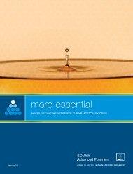 more essential - Solvay Plastics