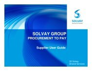 Supplier Guidelines - 3S Solvay Shared Services