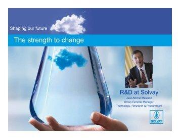 R&D to sales - Solvay