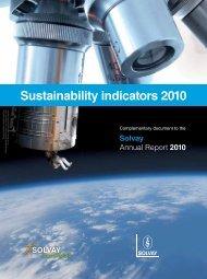 Sustainability indicators 2010 - Solvay