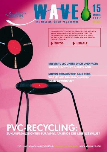PVC-RECYCLING: - Solvay Plastics