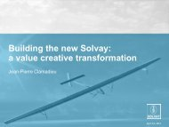 Operational excellence - Solvay