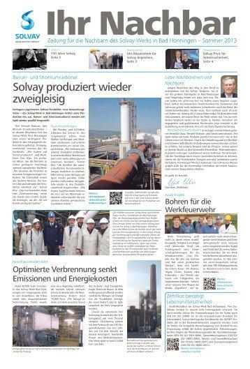 Solvay produziert wieder zweigleisig