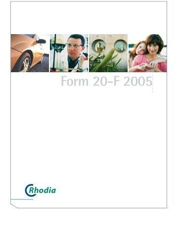 Form 20-F 2005