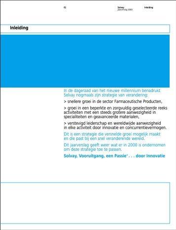 Sector Farmaceutische Producten - Solvay