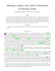 Modeling, Analysis and Control of Networked Evolutionary Games