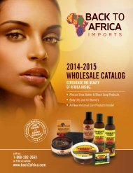 BACK TO AFRICA IMPORTS 2014-2015 WHOLESALE CATALOG