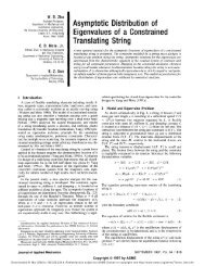 Asymptotic Distribution of Eigenvalues of a Constrained Translating ...