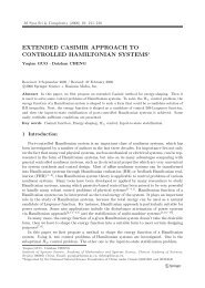 extended casimir approach to controlled hamiltonian ... - Springer