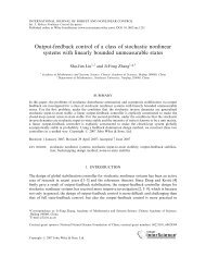 Output-feedback control of a class of stochastic ... - ResearchGate