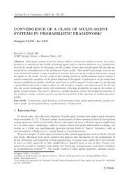 convergence of a class of multi-agent systems in ... - CiteSeerX