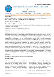 International Journal of Medical Research & Health Sciences