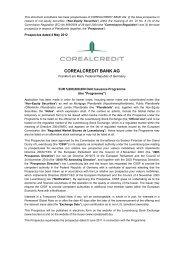 COREALCREDIT BANK AG