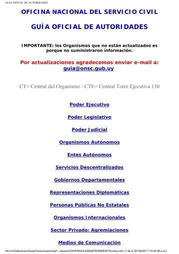 GUIA OFICIAL DE AUTORIDADES - Revista Comercial Contacto