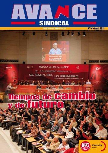 Nº 14 de la revista AVANCE Sindical - SOMA FITAG-UGT