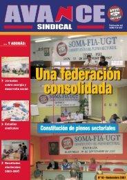 Nº 10 de la revista AVANCE Sindical - SOMA FITAG-UGT - Asturias