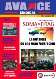 Nº 15 de la revista AVANCE Sindical - SOMA FITAG-UGT