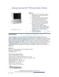 Datascope Spectrum OR ™ With Gas Module 3 Monitor - Soma ...