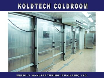 Presentation KOLDTECH Coldroom - Somerville (Siam)