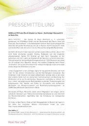 PRESSEMITTEILUNG - SOMM